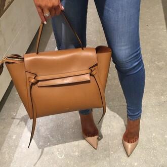 bag purse bags and purses nude bag brown bag caramel leather bag