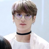 sunglasses,bts jungkook circle round clear lens glasses bangtan,black,thin,circle glasses black  glasses thin glasses