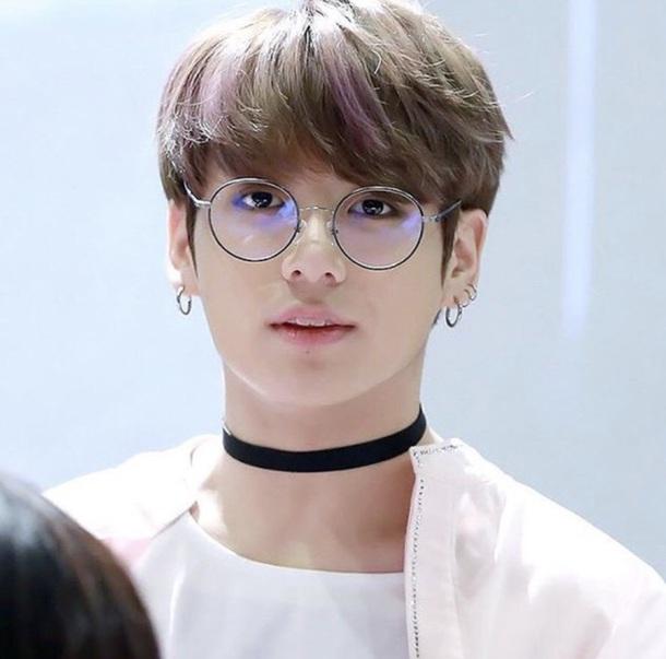 sunglasses bts jungkook circle round clear lens glasses bangtan black thin circle glasses black  glasses thin glasses