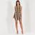 Zip Front Bodycon Dress - Khaki
