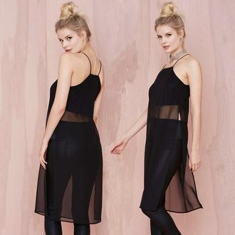 tank top summah breeeze mesh mesh top black top mesh tank lace tank mesh top dress double split slit tank lace top dress