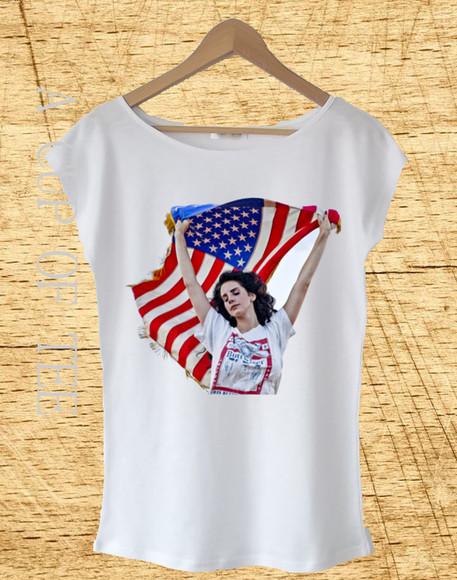 t-shirt lana del rey lana del rey shirt lana del rey t shirt lana del rey's shirt lana del rey flag