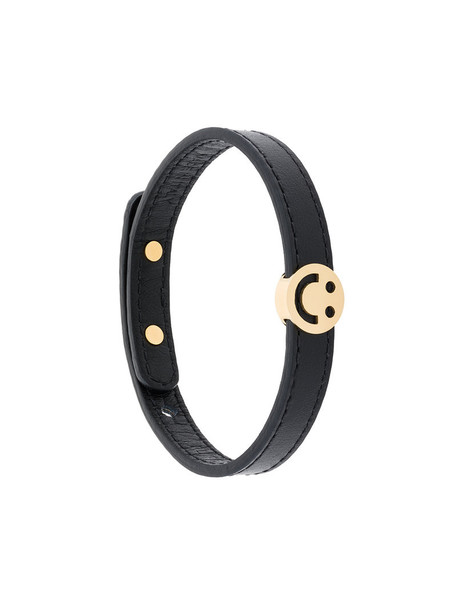 RUIFIER metal friends women charm bracelet leather black jewels