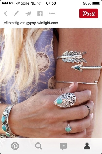 jewels silver gypsy bohemian boho arrow hippie accessory summer beauty