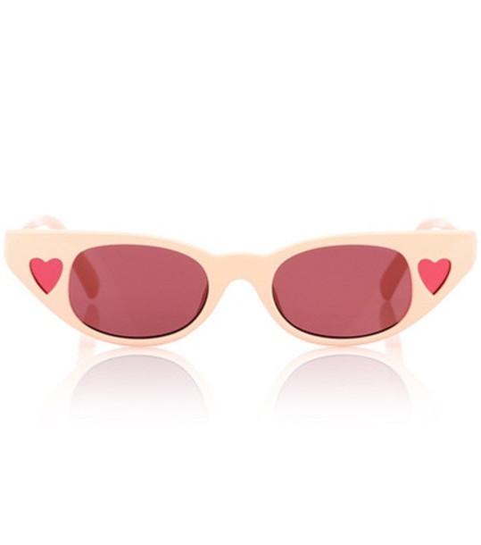 Le Specs X Adam Selman The Heartbreaker sunglasses in pink