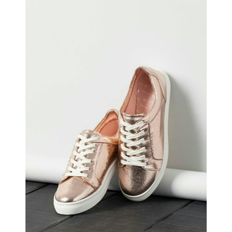 shoes bershka gold shoes gold sneakers sneakers rose gold