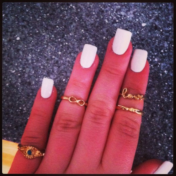nail polish barry m white gold rings cute summer acrylic nails