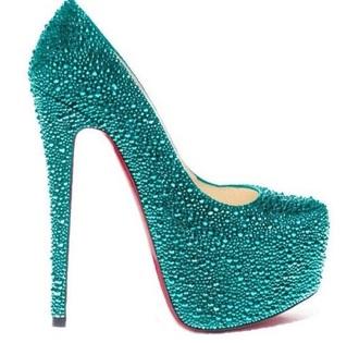 platform shoes high heels platform high heels style turquoise rinestones swarovski swarovski crystal pumps