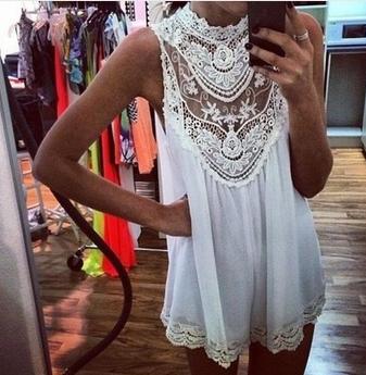 Sleeveless Lace Flower Mini dress - Juicy Wardrobe
