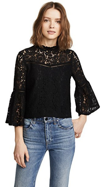 BB Dakota blouse lace black top