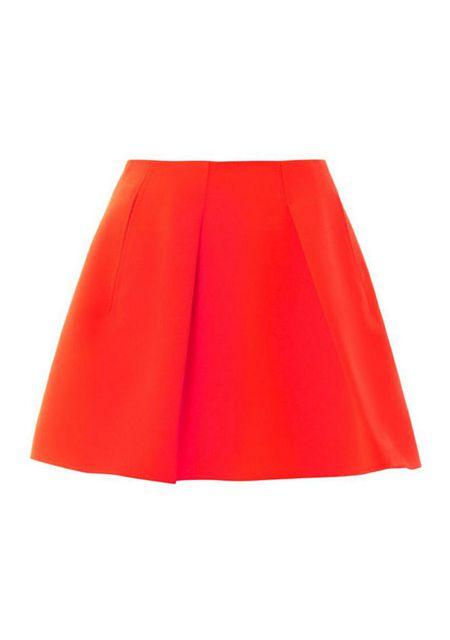 Women's pleated hem high waist slant pocket skirts online