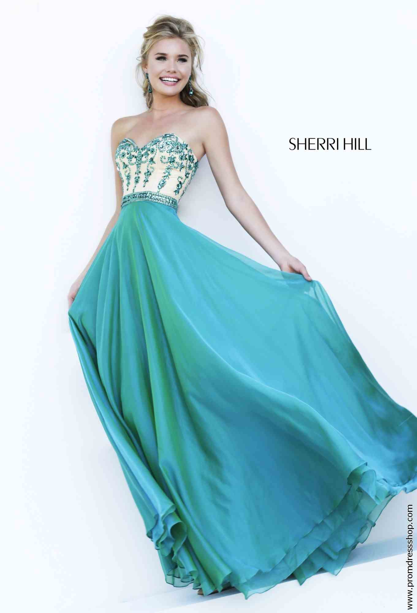 Blue Sweetheart Sherri Hill Prom Dresses