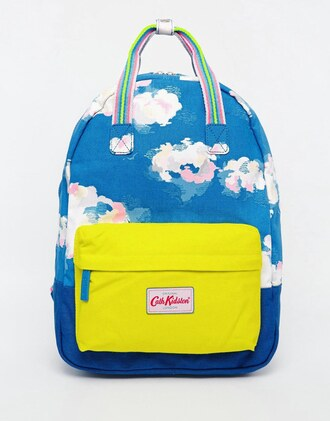 bag backpack cloud blue clouds cloud cloud backpack cath kidston backpack cath kidston
