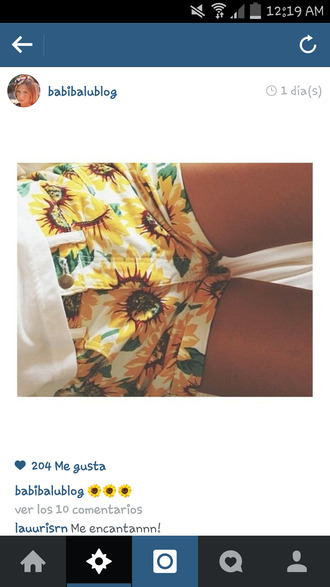 shorts sunflower short white spain coat