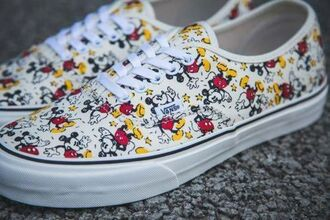 shoes vans mickey mouse printed vans