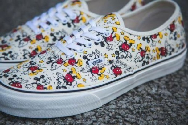 shoes vans mickey mouse printed vans disney mickey mouse
