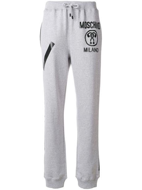 Moschino pants track pants women cotton grey