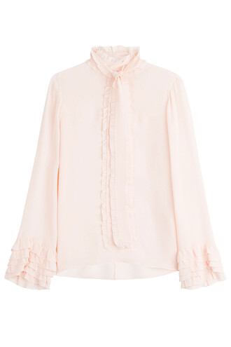 blouse silk rose top