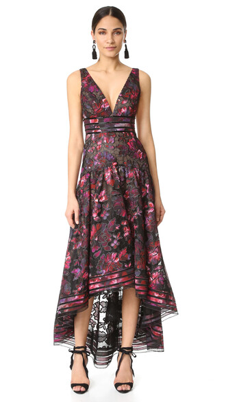 gown floral black dress