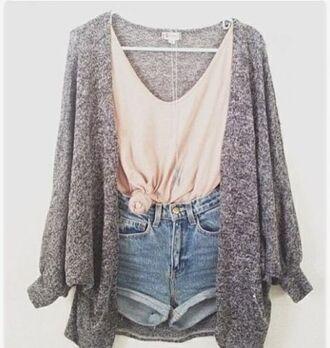 shorts shirt sweater summer cute cardigan
