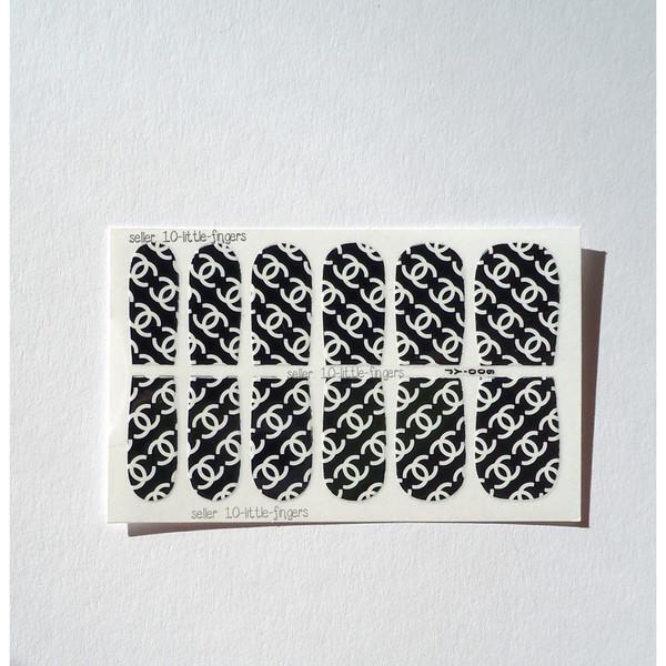 nail accessories nails nail art manicure pedicure stikcers wraps nail decoration chanel logo brand designer fashion designer nail polish