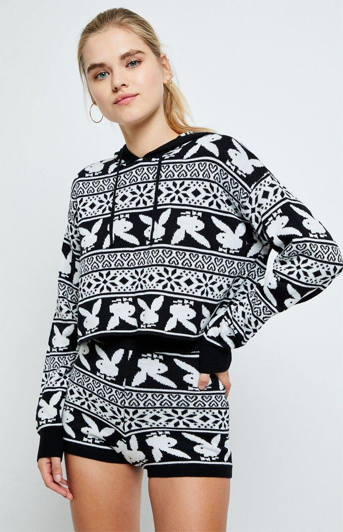 Nordic Bunny Sweater & Short Two Piece Set