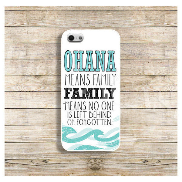 phone cover ohana means family waves