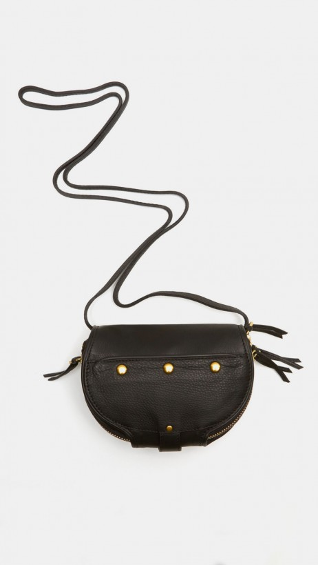 Jerome Dreyfuss Momo Shoulder Bag In Black And Ivory | The Dreslyn