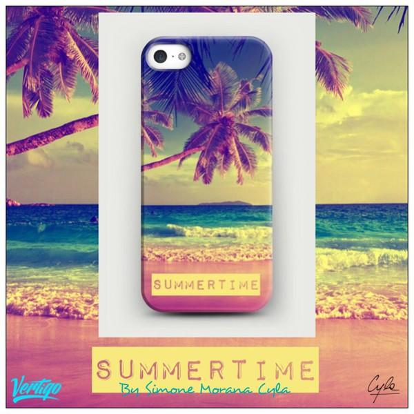 jewels summer outfits iphone case beach palm tree print fashion girly