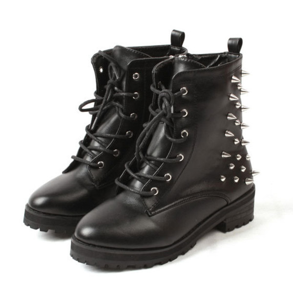 shoes boot black cool