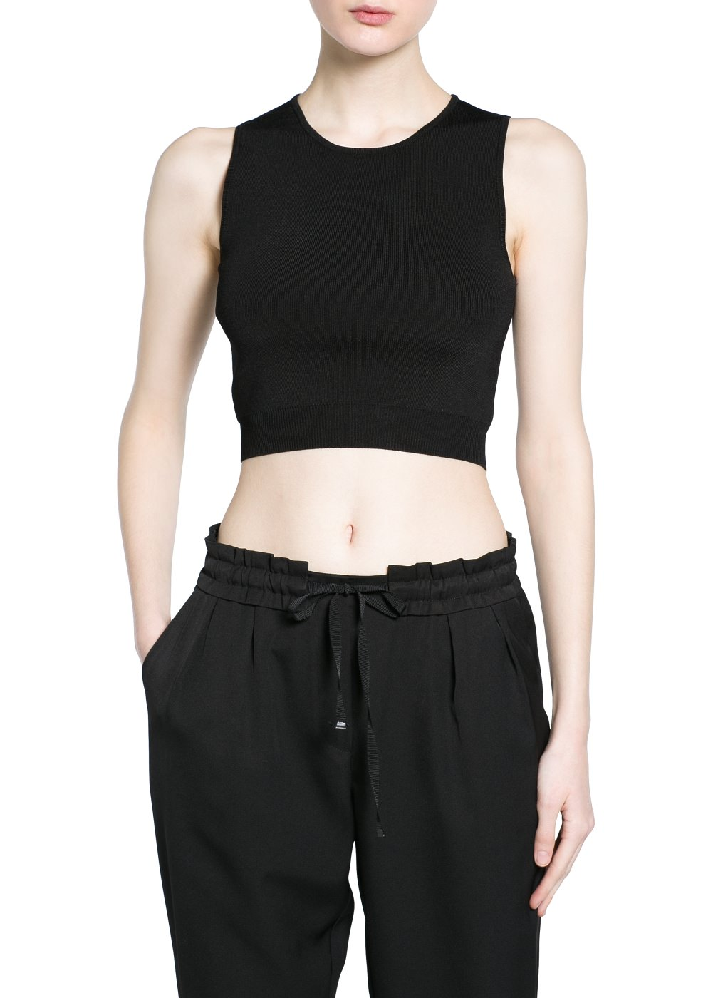 Cropped top -  							  							Women - 							MANGO