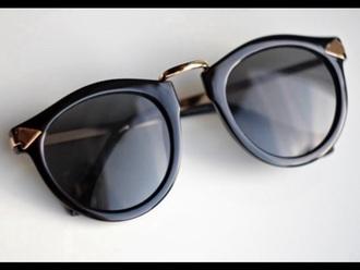 sunglasses gold black summer beach sun
