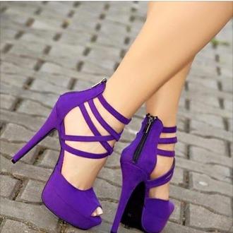 shoes purple shoes sexy pumps