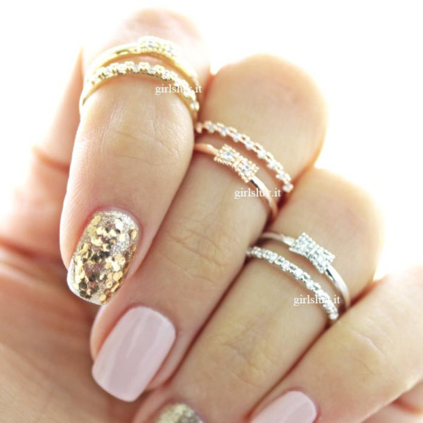 nail jewelry ring ribbon ring knuckle ring