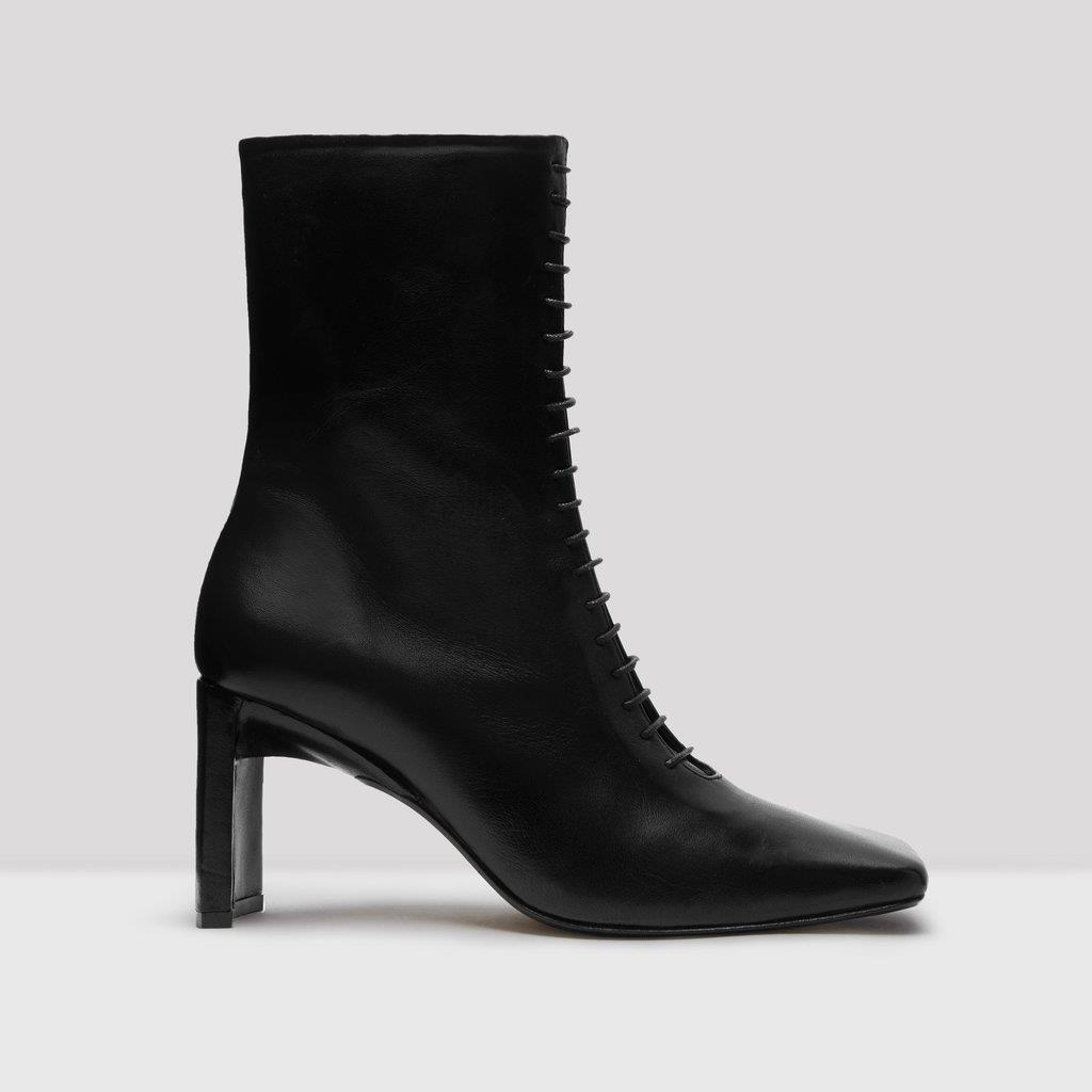 Ania Black Leather Boots