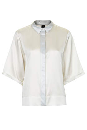 Satin Contrast Shirt by Boutique - New In This Week - New In - Topshop