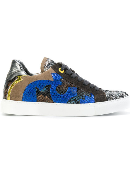 Zadig & Voltaire women sneakers leather suede shoes