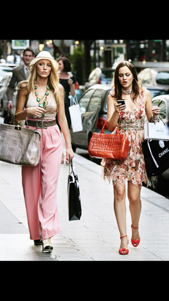 pants gossip girl blair dress gossip girl dress gossip girl serena van der woodsen blair waldorf blake lively leighton meester pink pants dress shoes