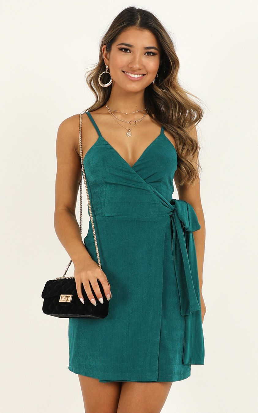 Showpo  But I Got A Lot Of Style Dress in emerald - 4 (XXS) Dresses