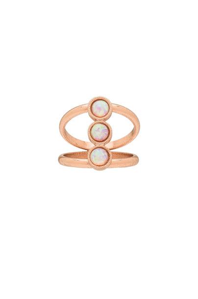 CAM Three Stone Ring in metallic / copper