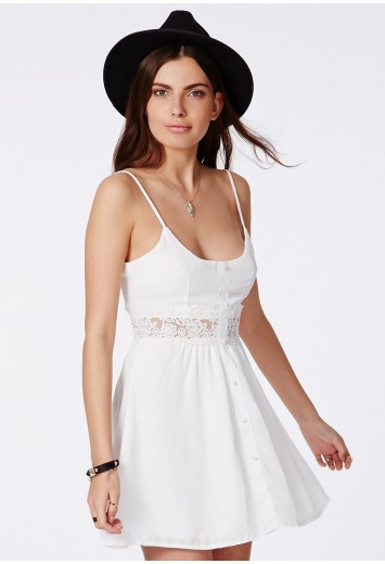 Otisa Swing Dress With Crochet Detail - Swing Dresses - Missguided
