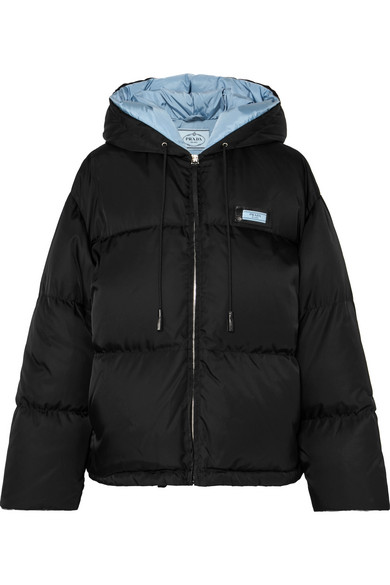 04fa93cde4 Prada - Hooded quilted shell down jacket