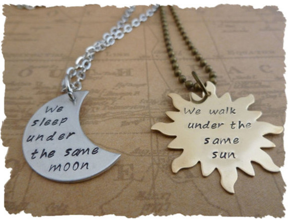 jewels necklace moon and sun necklaces for 2 necklace moon matching jewelry
