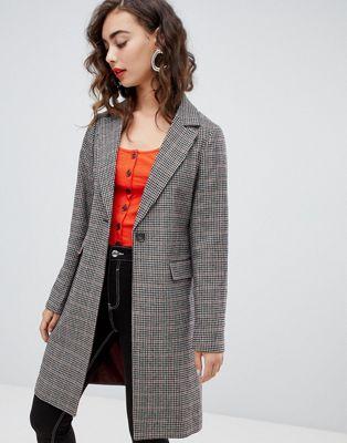 New Look Check Tailored Coat at asos.com