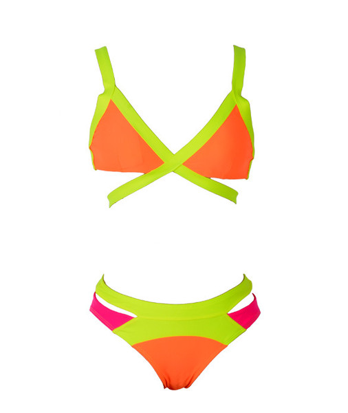 Multi-colored Bikini