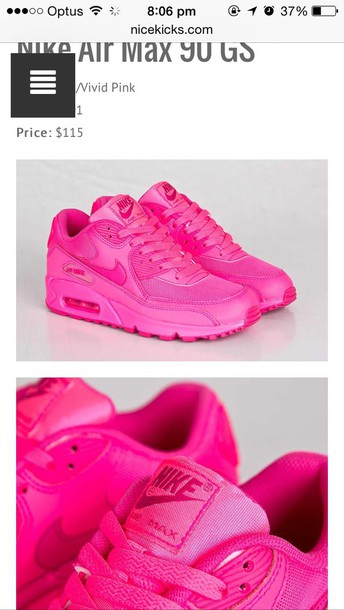 shoes hot pink air max 90s