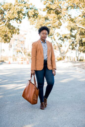 pinksole,blogger,jewels,jacket,shirt,jeans,shoes,bag,skinny jeans,tote bag,blazer,booties