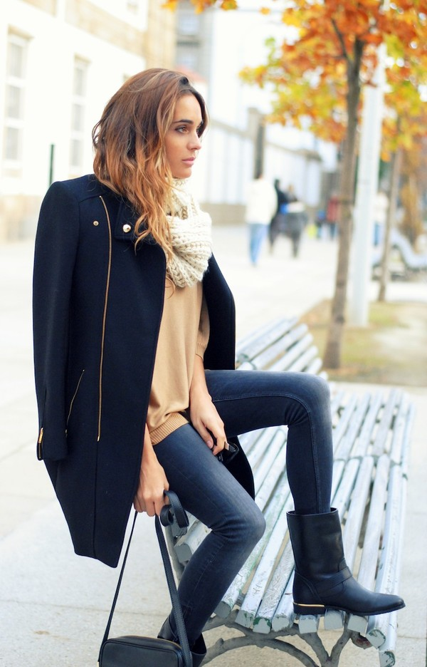stella wants to die shoes jeans coat sweater bag scarf