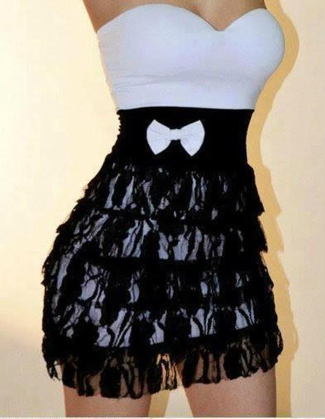 Cute Strapless Dress Black