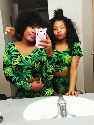 top marijuana marijuana crop top marijuana shorts